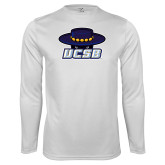 Performance White Longsleeve Shirt-Primary