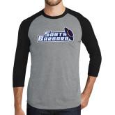 Grey/Black Tri Blend Baseball Raglan-Santa Barbara with Hat