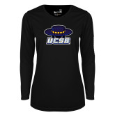 Ladies Syntrel Performance Black Longsleeve Shirt-Primary