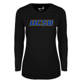 Ladies Syntrel Performance Black Longsleeve Shirt-UCSB