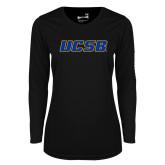 Ladies Syntrel Performance Black Longsleeve Shirt-UCSB