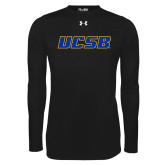 Under Armour Black Long Sleeve Tech Tee-UCSB