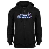 Black Fleece Full Zip Hoodie-Santa Barbara with Hat