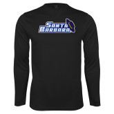 Performance Black Longsleeve Shirt-Santa Barbara with Hat