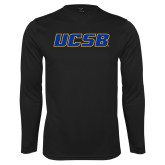Performance Black Longsleeve Shirt-UCSB
