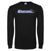 Black Long Sleeve T Shirt-Gauchos with Hat