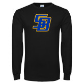 Black Long Sleeve T Shirt-Interlocking SB