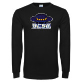 Black Long Sleeve T Shirt-Primary Distressed