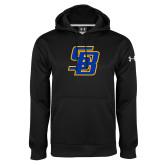 Under Armour Black Performance Sweats Team Hood-Interlocking SB