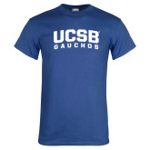 Royal T Shirt-Arched UCSB Gauchos
