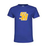 Youth Royal T Shirt-Interlocking SB