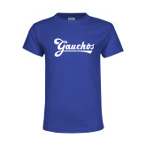 Youth Royal T Shirt-Gauchos Script