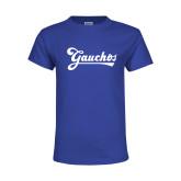 Youth Royal T Shirt-Gauchos Script