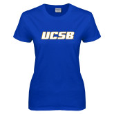 Ladies Royal T Shirt-UCSB