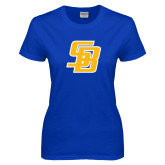 Ladies Royal T Shirt-Interlocking SB