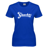 Ladies Royal T Shirt-Gauchos Script