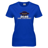 Ladies Royal T Shirt-Dare to be Great