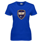 Ladies Royal T Shirt-UCSB Soccer Shield