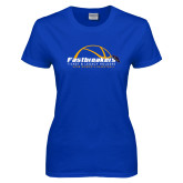 Ladies Royal T Shirt-Fastbreakers Ticket and Legacy Holders