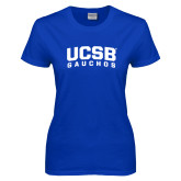 Ladies Royal T Shirt-Arched UCSB Gauchos