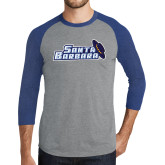 Grey/Royal Heather Tri Blend Baseball Raglan-Santa Barbara with Hat