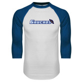 White/Royal Raglan Baseball T Shirt-Gauchos with Hat