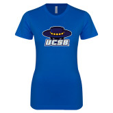 Next Level Ladies SoftStyle Junior Fitted Royal Tee-Primary