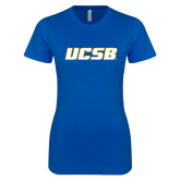 Next Level Ladies SoftStyle Junior Fitted Royal Tee-UCSB