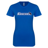 Next Level Ladies SoftStyle Junior Fitted Royal Tee-Gauchos with Hat