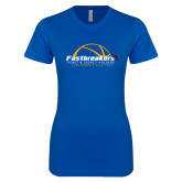 Next Level Ladies SoftStyle Junior Fitted Royal Tee-Fastbreakers Ticket and Legacy Holders