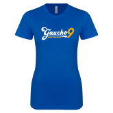 Next Level Ladies SoftStyle Junior Fitted Royal Tee-Gauchos 9