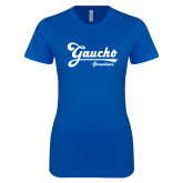 Next Level Ladies SoftStyle Junior Fitted Royal Tee-Gaucho Grandma
