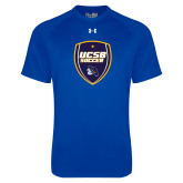 Under Armour Royal Tech Tee-UCSB Soccer Shield