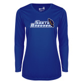 Ladies Syntrel Performance Royal Longsleeve Shirt-Santa Barbara with Hat