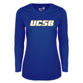 Ladies Syntrel Performance Royal Longsleeve Shirt-UCSB