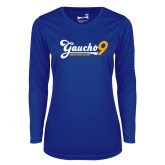 Ladies Syntrel Performance Royal Longsleeve Shirt-Gauchos 9