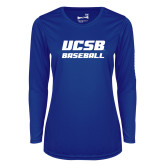 Ladies Syntrel Performance Royal Longsleeve Shirt-Baseball