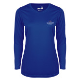 Ladies Syntrel Performance Royal Longsleeve Shirt-Gaucho Fund