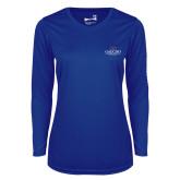 Ladies Syntrel Performance Royal Longsleeve Shirt-Gaucho Fund