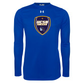 Under Armour Royal Long Sleeve Tech Tee-UCSB Soccer Shield