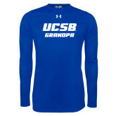 Under Armour Royal Long Sleeve Tech Tee-Grandpa