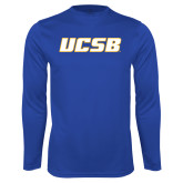 Syntrel Performance Royal Longsleeve Shirt-UCSB