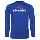 Performance Royal Longsleeve Shirt-Fastbreakers Ticket and Legacy Holders