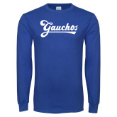 Royal Long Sleeve T Shirt-Gauchos Script