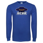 Royal Long Sleeve T Shirt-Primary Distressed