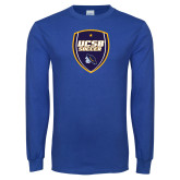 Royal Long Sleeve T Shirt-UCSB Soccer Shield