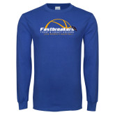 Royal Long Sleeve T Shirt-Fastbreakers Ticket and Legacy Holders