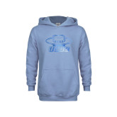 Youth Light Blue Fleece Hoodie-Primary Foil