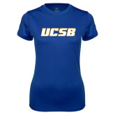 Ladies Syntrel Performance Royal Tee-UCSB
