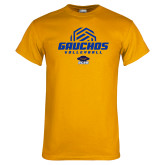 Gold T Shirt-Gauchos Volleyball Half Ball